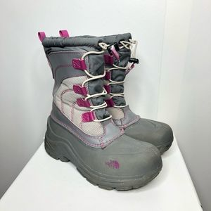 North face youth alpenglow winter snow boots
